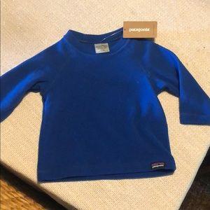 6-12 Month Patagonia blue fleece